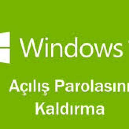 Windows 10 Açılış Şifresi Kaldırma