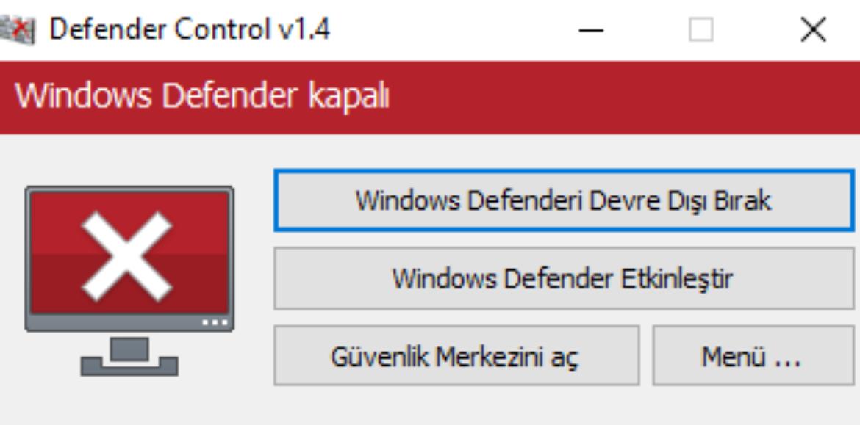 Windows Defender Devre Dışı Bırakma